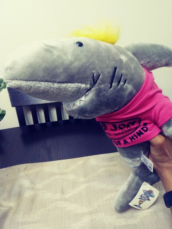 """Ron Jon Surf Shop Surf Cruiser 17"""" Plush Shark Large """"ONE OF A KIND"""" with tag"""