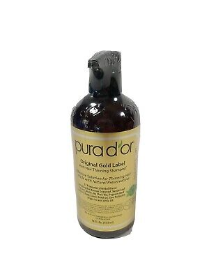 PURA D OR Original Gold Label Anti Thinning Shampoo 16 fl oz