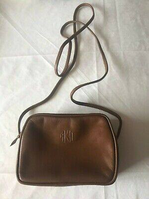 Vintage Anne Klein Brown Leather Crossbody Small Purse Soft