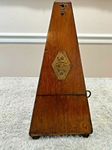 VINTAGE METRONOME MAEIZEL PAQUET FRANCE  Dated 1898 FRENCH MADE  .. WORKING