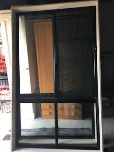 2 Aluminium Windows with Crim Safe screens plus 2 roller blinds