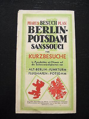 alter PHARUS Besuch Plan Berlin Potsdam Sanssouci für Kurzbesuche um 1930