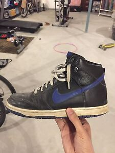 Nike dunk highs blue black colour way Edmonton Edmonton Area image 1
