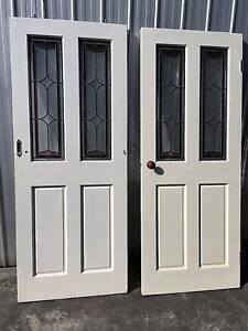 timbers doors with stained glass - 1 slider and 1 internal Heathmont Maroondah Area Preview