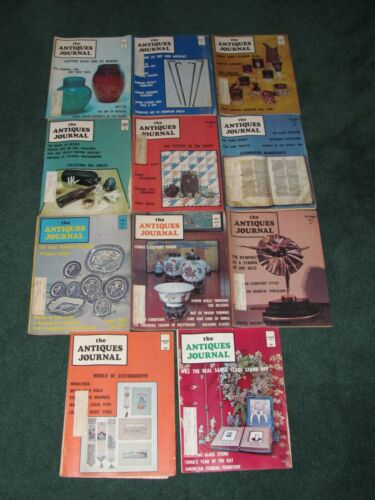 The Antiques Journal, set of 11, 4 from 1972, 6 from 1973, 1 from 1974