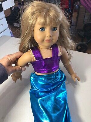 "American Girl Doll 18"" WITH MERMAID OUTFIT"