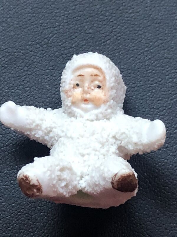 Snowbabies antique Signed Rare Germany Snow Baby