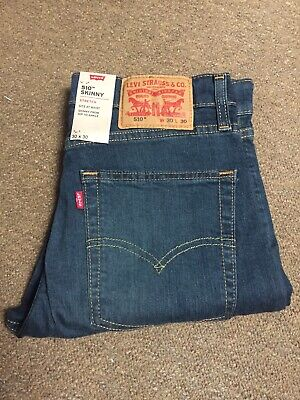 LEVIS 510 Skinny Fit Stretch Mens Jeans Blue W:28 to 38, L:30 to 34 (05510-0336)