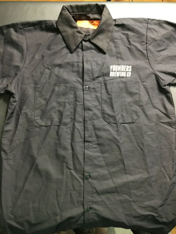 Men's L Founders Brewing Workers Shirt