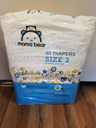 Amazon Brand - Mama Bear Diapers Size 2, 46 Count, Bears Pri
