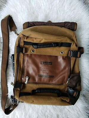 KAUKKO Men backpack Canvas Travel Bag Shoulder Bag Multi-Function Best Great