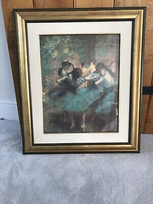Degas Ballet Picture blue theme with gold frame