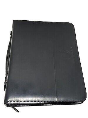 3-ring Leather Binder Folder Portfolio Organizer Planner W Briefcase