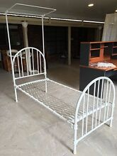 Vintage white cast iron single bed frame Brassall Ipswich City Preview