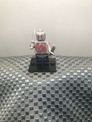 New Custom LEGO Minifigure Superhero Drax The Destroyer Guardians Of The Galaxy - Superhero Custome
