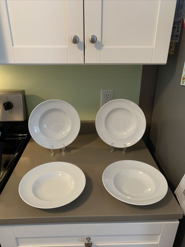 """(4) Rosenthal EPOQUE WHITE Pasta Bowls Germany 10"""" Wide"""