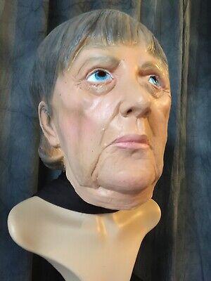 ANGELA MERKEL MASKE, KANZLERIN CELEBRITY VIP Frauenmaske Latex - Promi Maske