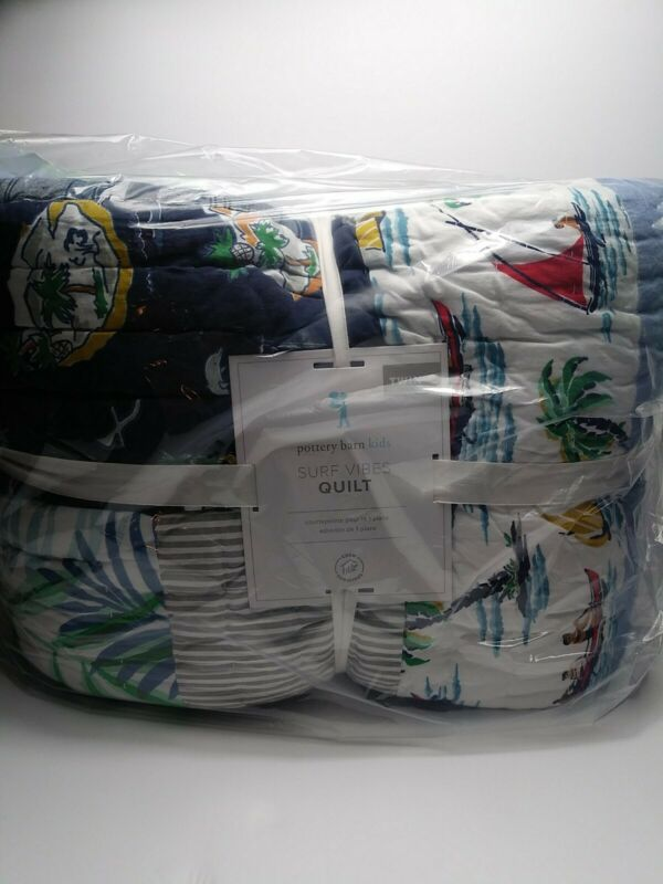 POTTERY BARN KIDS Surf Vibes TWIN  Quilt