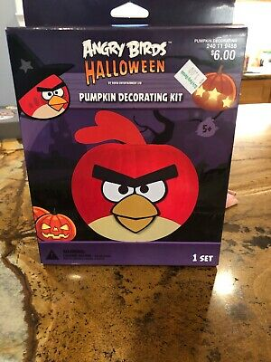 New Decorate Your Own Angry Birds Halloween Pumpkin Decorating Kit  for 9