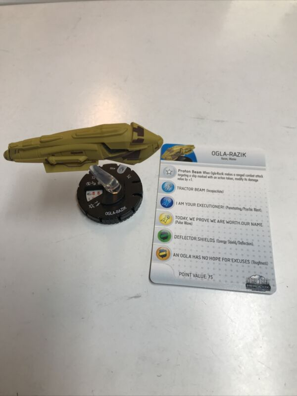 Star Trek Heroclix Tactics Kazon Olga-Razik with Card