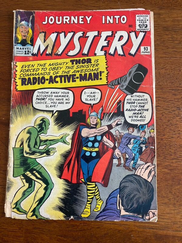 Journey Into Mystery #93 Marvel Thor 1st Radioactive Man Silver Age Comic