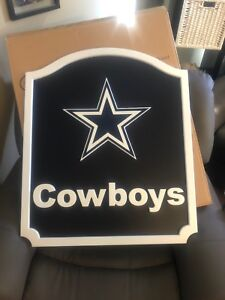 Dallas Cowboys Team Name  Shield - Plaque, wall or bar mount.