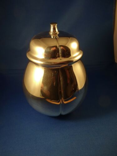 Tiffany Sterling Silver Gourd, mint decor display, year 2000, original owner