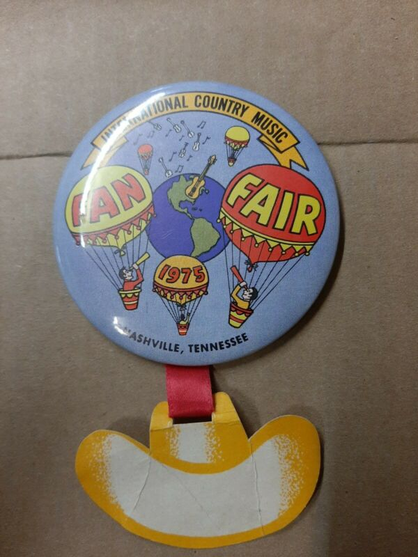 International Country Music Fan Fair Nashville Tennessee Event Pin Button 1975