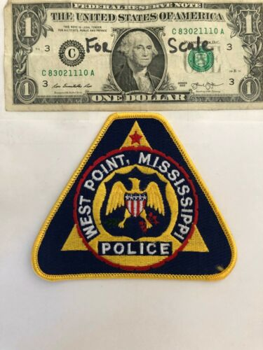 West Point Mississippi Police Patch Un-sewn Great condition