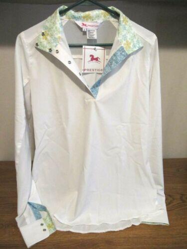 RJ Classics Ladies Prestige Hunt Shirt Long Sleeve English Show Sz Large
