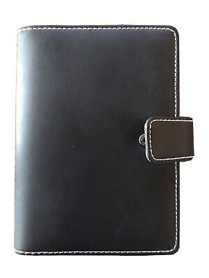 Day Runner Black Leather 6 Ring Binder Planner Barely Used