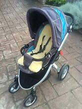 VALCO REBEL Q PRAM + Ranicover + Lambs wool insert Hobart CBD Hobart City Preview