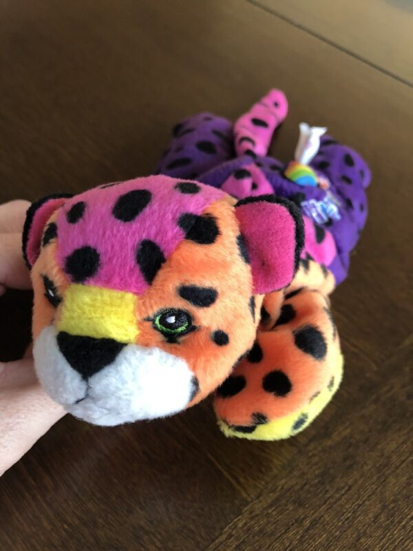 Lisa Frank Vintage Fantastic Beanie Hunter Rainbow Leopard
