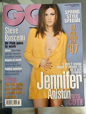 GQ Magazine 1997 Jennifer Aniston Steve Buscemi Dani Behr Linford Christie
