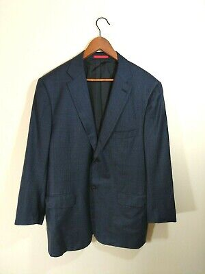 Isaia Napoli Men Navy blue 130s wool blazer Made in Italy size 46 R