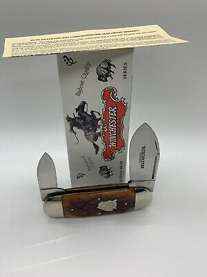 Winchester Two Blade Sunfish W18 29120 BH Buffalo Head Series NOS In Box Knife