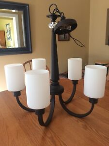 5 light candle-look hanging light fixture
