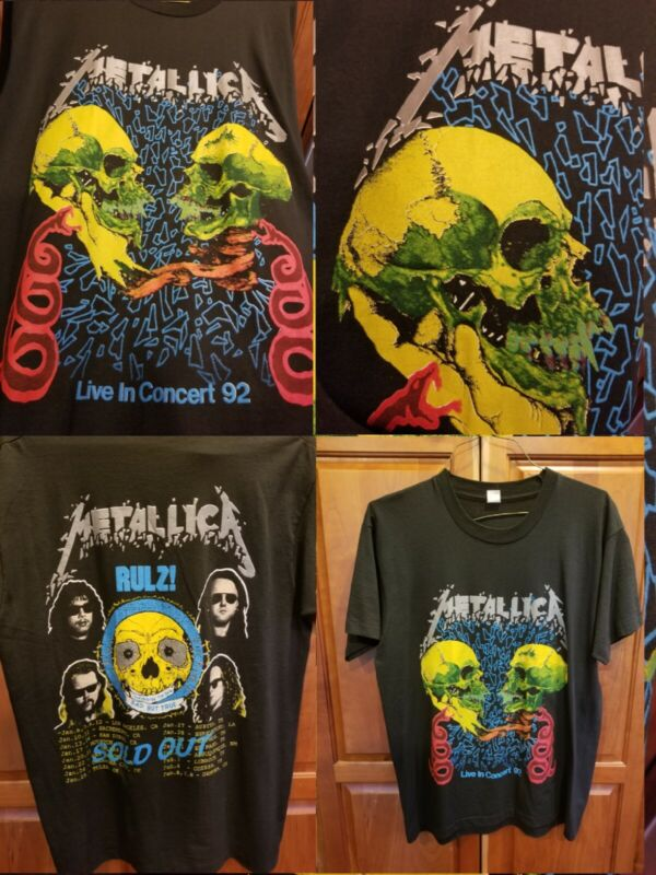 Metallica Rulz! PUSHEAD Sad But True Vintage 1992 Tour T-shirt MINT Condition