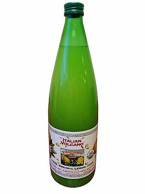 Italian Volcano 100% Organic Lemon Juice 1L (33.8 fl oz) 40 Lemons in a Bottle