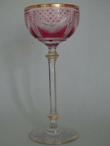 AMAZING VINTAGE WNE GLASS CRYSTAL SAINT LOUIS AMETHYSTE pattern 999