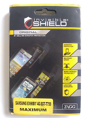 Zagg Invisible Shield Samsung Exhibit 4G SGT-T759 Scratch Protection  for sale  Shipping to India