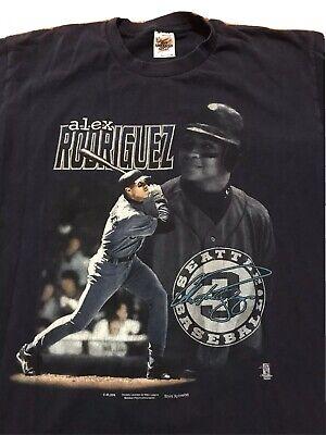 Vintage Seattle Mariners Alex Rodriguez Promo Tee Mens Large 90s MLB USA Shirt Alex Rodriguez Shirt