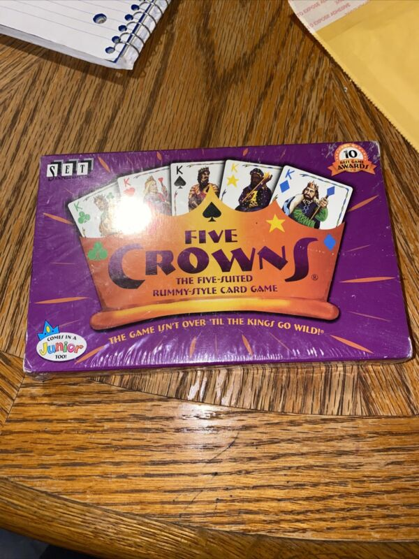 FIVE CROWNS The Five-Suited Rummy-Style Playing Card Game NEW SEALED