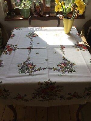 Tischdecke, 50/60/70 er Jahre, Blumendecke