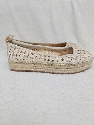 Jessica Simpson Cream Espadryl Flat Platform Heel NWOT