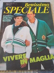 BENISSIMO-Speciale-n-10-1985-VIVERE-IN-MAGLIA-con-57-modelli-con-filati-PHILDAR