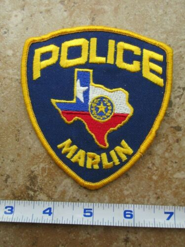 OBSOLETE Vintage State of Texas Marlin Police Department Shoulder Patch