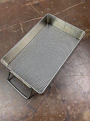 Sklar Stainless Surgical Sterilization Instrument Sterilizing Tray Basket 10x6
