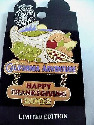 Disney's California Adventure 2002 Happy Thanksgiving Pin LE 1500+ Free Shipping