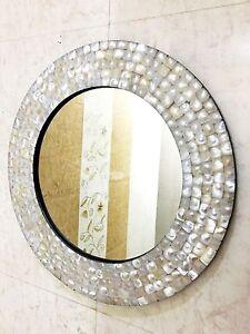 Mother Of Pearl Decorative Wall Hanging Mirror Wall Bathroom Dresser Handmade Ebay